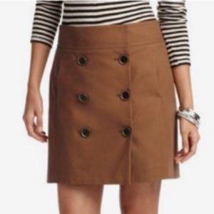 Ann Taylor LOFT Tan Button Skirt  4